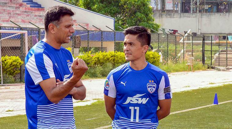 Rahul Dravid gets nostalgic after playing football with Sunil Chhetri