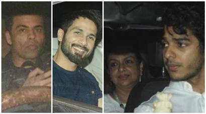 Shahid Kapoor, Dimple Kapadia and Arjun Rampal attend Beyond The Clouds special screening