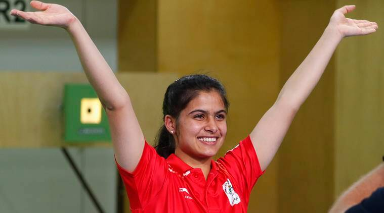 Manu Bhaker after winning gold in 10m Air Pistol Final