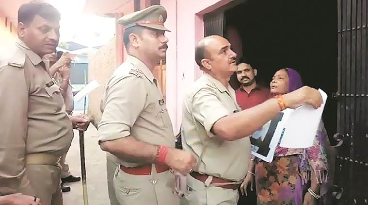 Bheem Army chief standing next to them, cops put up his wanted poster; probe ordered