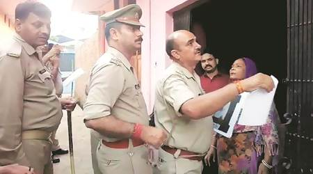 UP: Bheem Army chief standing right next to them, cops put up his wanted poster; probeordered