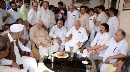 Boost for Bhupinder Singh Hooda as Kuldeep Bishnoi attends his meet for Rahul Gandhi's rally