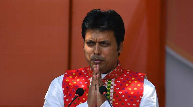 Tripura Chief Minister Biplab Kumar Deb no pushover, does 45 push-ups on stage