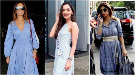 Manushi Chhillar, Esha Gupta, Shilpa Shetty: B-town celebs show how to incorporate SOOTHING blue in your wardrobe