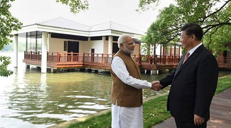 pm modi in china, modi boat ride, modi xi jinping meeting, modi east lake ride, east lake china, modi wuhan visit, india-china relations, indian express