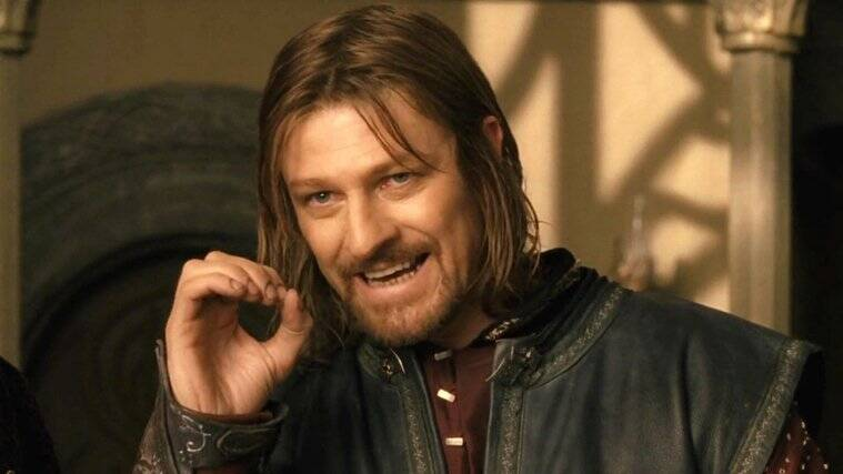 sean bean as boromir in the lord of the rings the fellowship of the ring