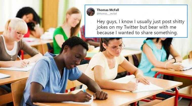 foreign exchange student story, foreign exchange student viral thread, viral thread on exchange student, student's tweet on foreign exchange student, twitter reactions, viral thread, indian express, indian express news