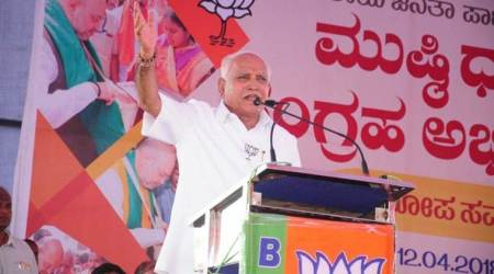 Karnataka elections: No BJP tickets yet for Yeddyurappa son, close aide, angry supporters stageprotest