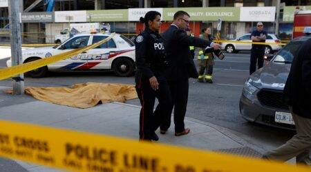 Van plows into Toronto sidewalk, killing 10 and injuring 15