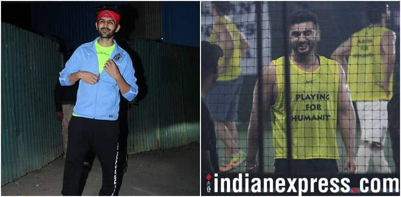 kartik aryan and arjun kapoor football photos