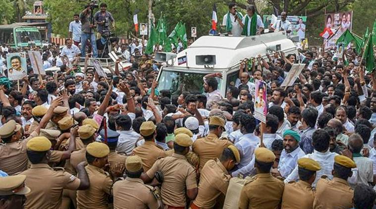 Cauvery water issue: Opposition parties hold protests across Tamil Nadu, slam Modi govt for 'bias'