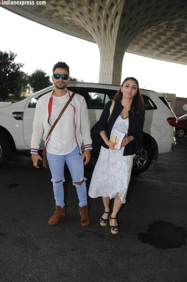 kunal kemmu and soha ali khan at airport