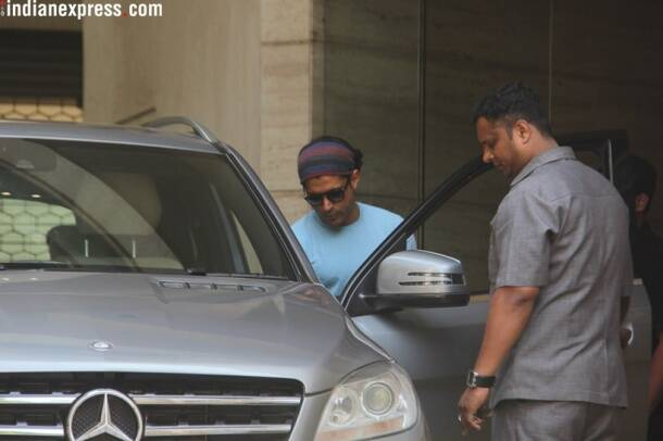 farhan akhtar at bandra