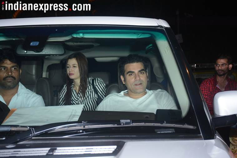 arbaaz khan at salman khan house