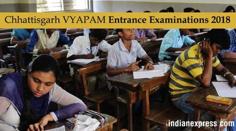 Chhattisgarh VYAPAM examinations, cgvyapam.choice.gov.in, CG Vyapam 2018, Chhattisgarh VYAPAM 2018 examinations, Chhattisgarh Professional Examination Board, Education News, Indian Express, Indian Express News