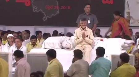 Chandrababu Naidu fast: No birthday cake for TDP chief as he strikes against Centre's 'injustice' to Andhra