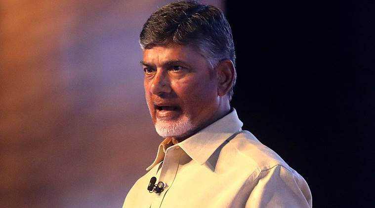 Andhra Pradesh Chief Minister Chandrababu Naidu. (Express photo/Nirmal Harindran)