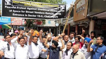 Chandigarh Sector 19 traders rally against street vendors