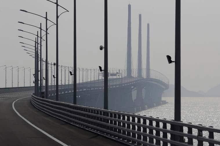 sea bridge, worlds longest sea bridge, china, zhuhai, macau, hong kong, indian express