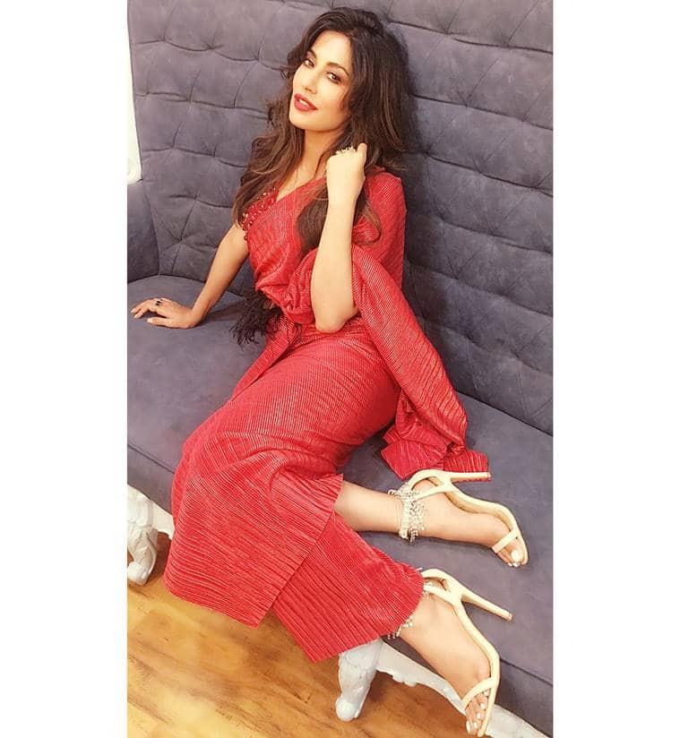 Chitrangada Singh, Chitrangada Singh latest photos, Chitrangada Singh fashion, Chitrangada Singh sari, Chitrangada Singh furry belt, Chitrangada Singh Shweta Kapur, indian express, indian express news