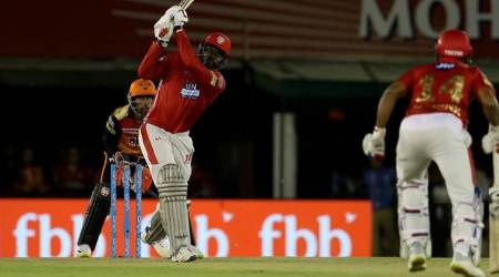 IPL 2018 Live Cricket Score KXIP vs SRH: Chris Gayle notches up a hundred against SRH