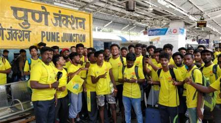 IPL 2018: CSK's 'Whistlepodu Express' arrives in Pune for Rajasthan Royals match