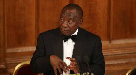 South Africa's Cyril Ramaphosa cuts short Britain trip to deal with protests at home