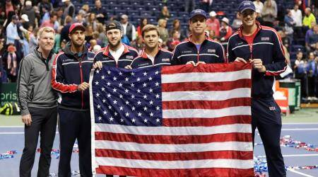 US ease past Belgium into Davis Cup semifinals