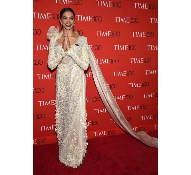 Deepika Padukone, Deepika Padukone latest photos, Deepika Padukone fashion, Deepika Padukone Anamika Khanna, Deepika Padukone Time's 100 most influential, Deepika Padukone New York City, indian express, indian express news