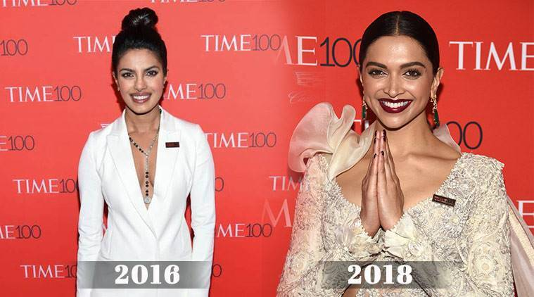 TIME 100 Gala 2018, TIME's Gala, Times 100 gala, Time Red Carpet, TIME's 100 Most Influential People Gala, Deepika Padukone, Deepika Padukone Time 100 gala, Deepika Padukone fashion, Deepika Padukone anamika khanna, Deepika Padukone latest photos, Priyanka Chopra, Priyanka Chopra Time 100 gala, Priyanka Chopra fashion, Priyanka Chopra latest photos, indian express, indian express news