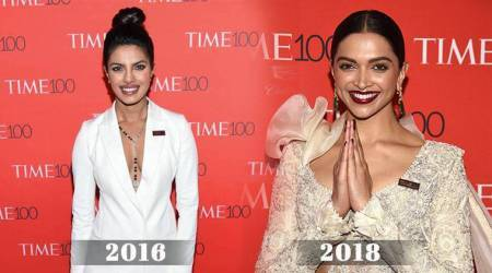 Time 100: 2 years apart, Deepika Padukone and Priyanka Chopra both chose white for the red carpet