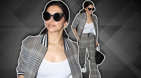 Deepika Padukone's athlesiure outfit (with funky glasses) is ideal for both the gym and a Sunday brunch!