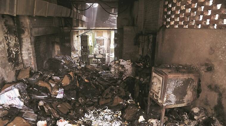 The fire is believed to have started from the electricity meter. (Abhinav Saha)