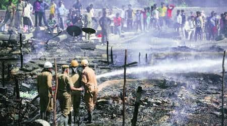 Delhi: One dead as fire guts 300 shanties in MSPark