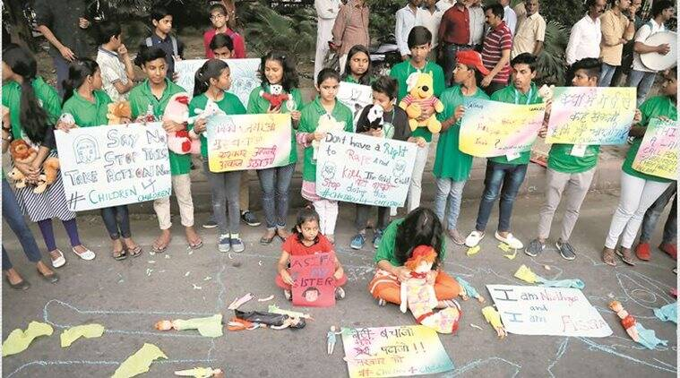 Shaken by Kathua and Unnao, kids take the lead in Not In My Name protest