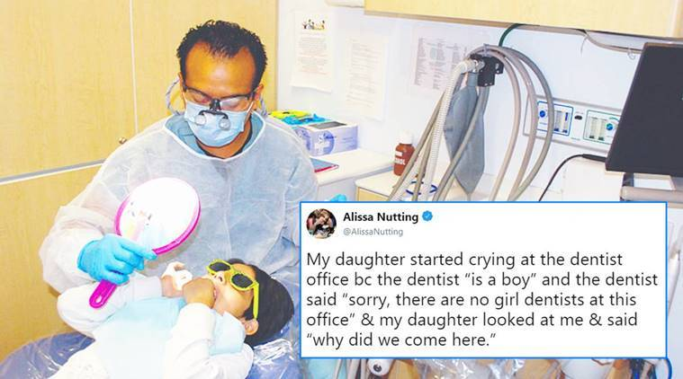 male dentist issue, issues with dentist being a man, woman tweets issue with dentist being a man, dentist issue, dentist news, indian express, indian express news