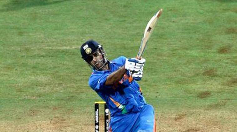 MS Dhoni with the six to win the ICC World Cup in 2011