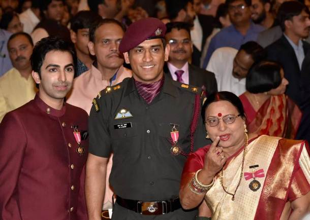 MS Dhoni honoured with Padma Bhushan Award by President Ram Nath Kovind, see pics