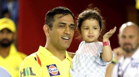 IPL 2018: CSK's MS Dhoni finds solace in daughter Ziva, wife Sakshi's company after last over loss against KXIP