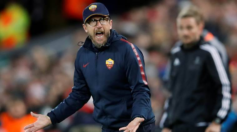 We lost our heads but have to believe, says Roma coach Eusebio Di Francesco