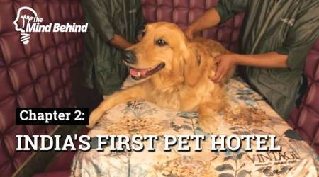 india's first pet hotel, hotel for dogs, boarding place for dogs, Deepak Chawla, pet owners, dog lovers, indian express videos