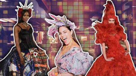 Dolce and Gabbana, Alta Moda, Dolce and Gabbana Alta Moda collection, Naomi Campbell, Ashley Graham, Karlie Kloss, Dolce & Gabbana's jewellery line, Alta Gioielleria, Alta Sartoria, Dolce and Gabbana women's collection, Dakota Fanning, Catherine Zeta Jones, Diane Kruger, Jamie Foxx, celeb fashion, hollywood fashion, indian express, indian express news