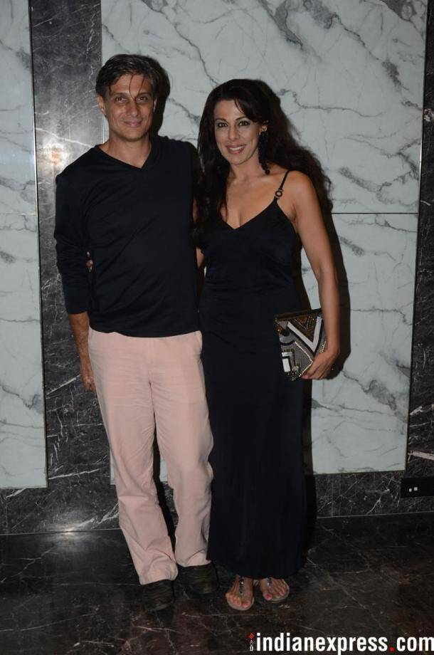 pooja bedi with a friend
