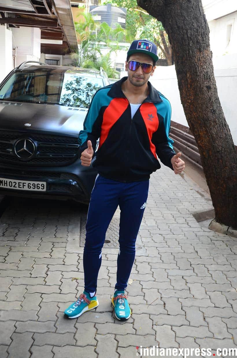 ranveer singh spotted in mumbai