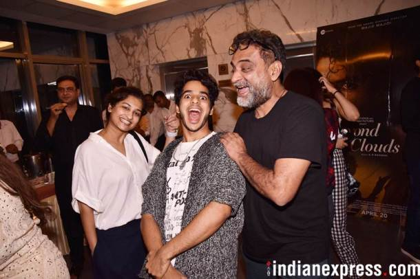 ishaan khatter with gauri shinde and r balki