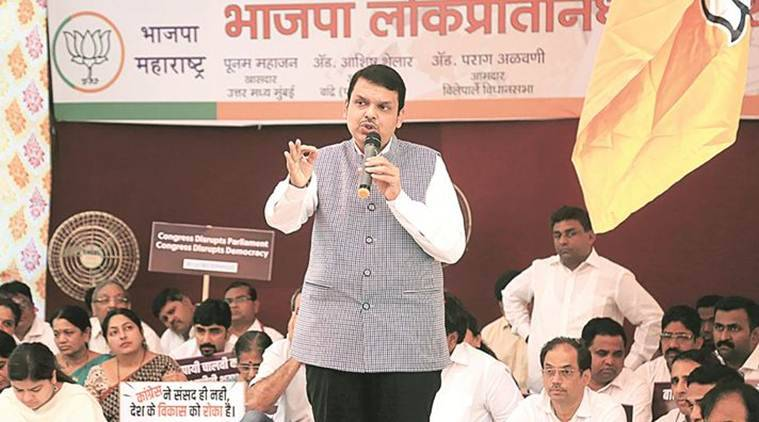 Chief Minister Devendra Fadnavis, mumbai bjp fast, mumbai news, maharashtra government, indian express