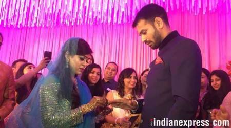 Lalu Yadav's eldest son Tej Pratap Yadav gets engaged to Aishwarya Rai