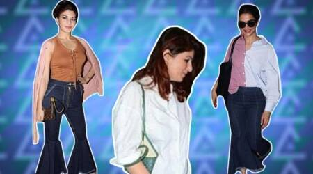 Sisters in arms: Twinkle Khanna joins Deepika Padukone, Jacqueline Fernandez in nailing the fringe bell-bottoms trend