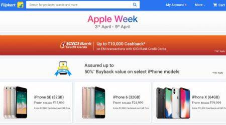 Apple Week Sale, Flipkart Apple Week Sale, Apple Week Flipkart sale, iPhone X discount, Flipkart Apple sale, iPhone sale, iPhone Flipkart sale, iPhone 8 discount, Flipkart sale