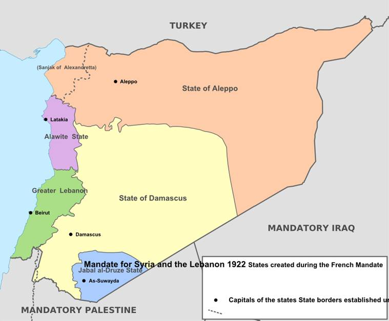 Syria french mandate provinces